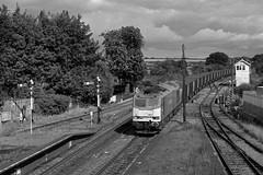 60054 at Barnetby (robmcrorie) Tags: leica white black monochrome train 35mm iron rail class east plus tug ore m2 ilford fp4 freight 60 dbs santon immingham barnetby 60054