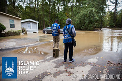 Islamic Relief USA's disaster response team is on the ground helping to assess houses in South Carolina along with the American Red Cross.