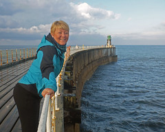 Mary on the pier.jpg (Mary&Neil) Tags: elements whitby pier callipygian