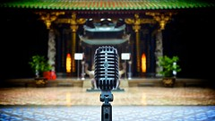 The Ancient and the Classic [explored] - Chinatown Singapore (splicestudios) Tags: usa classic rock vintage temple pagoda ancient singapore chinatown bokeh mosaic mosaictiles stage buddhist elvis buddhism courtyard rockroll microphone cbd 20mm hip mic 55 buddhisttemple taoist nationalmonument taoism centralbusinessdistrict splice shure thianhockkengtemple dontsteal taoisttemple shure55sh madeintheusa sh55 soundsgood donotsteal thianhockkeng shure55 vintagemicrophone askpermission 55sh givecredit shuresh55 20mmf17 lumix20mmf17 kenndelbridge splicestudios