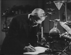 Laboratory (annacarvergay) Tags: lab doctor horror boris namethatfilm microscope beaker funnel scientist boriskarloff karloff theape ntf:guessedby=hytam2