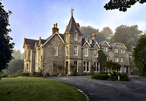 Our wonderful mansion in Pitlochry - the Craigmhor Lodge and Courtyard