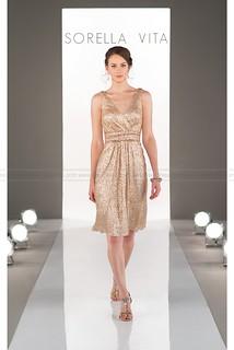 Sorella Vita Gold Bridesmaid Dress Style 8685