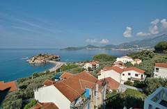 Montenegro vista (stevelamb007) Tags: sea seascape buildings landscape island town nikon d70s tokina vista adriatic montenegro stefano ststephens budva sveti superwide ststefan stevelamb 1116mmf28