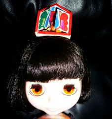 JJ: There's something on my head... 50/52 (Bebopgirl1969) Tags: christmas blythe nativity mexicanfolkart punkaholicpeople