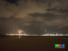 Flaring at Pulau Bukom from Cyrene Reef (wildsingapore) Tags: cyrene reefs threats industries pollution island sland singapore marine intertidal shore seashore marinelife nature wildlife underwater wildsingapore pulau bukom