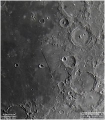 Rupes Recta  The Straight Wall on the Moon (Tom Wildoner) Tags: tomwildoner leisurelyscientistcom leisurelyscientist moon lunar craters solarsystem rupes recta wall rille fault meade celestron canon canon6d video stacking registax nightsky astronomy astrophotography astronomer telescope october 2016 birt
