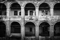 Grand New Inn,Istanbul (Mustafa Selcuk) Tags: 16mm 2016 eminonu fujifilm istanbul street streetphotography turkey xpro2 caravansaray caravansary blackandwhite blackwhite bnw bw architecture