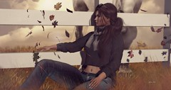 Perhaps It's The Truth That We Get Lost To Be Found! ... by Niani (xxnianixx) Tags: niani digitalart secondlife meva nomatch hair leaves country fence horse beauty romantic dreamy