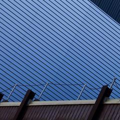 incineration plant (zeh.hah.es.) Tags: incinerationplant mllverbrennungsanlage mllverbrennungsanlagejosefstrasse josefstrasse zurich zrich schweiz switzerland linien lines blau blue braun brown grau gray grey kreis5 diagonal fassade faade
