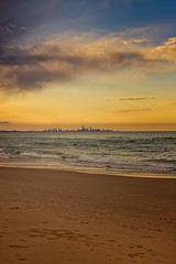 Flower In The Sand (k009034) Tags: 500px waves australia coolangatta copy space gold coast outdoors pacific queensland tranquil scene vacations beach city clouds drawing flower nature no people ocean sand sea shoreline sky skyline travel destinations teamcanon
