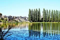 Combourg (10) (roland dumont-renard) Tags: bretagne ileetvilaine combourg chateaubriand lac tang peupliers reflets toits ardoise