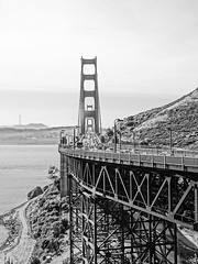 Golden Gate (Adventures of KM&G-Morris) Tags: goldengatebridge sanfranciscocalifornia blackwhite fromsausalitoside cruise travel