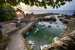 Dysart Harbour from on high (RagbagPhotography) Tags: 365 challenge dysart harbour harbor kirkcaldy fife scotland outlander amazon tv series bracketed exposures hdr efec pro 2 dawn fishing village sunrise firth forth estuary river