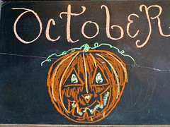 October chalk board art (Lana Pahl / Country Star Images) Tags: catchycolors artdreamed artiswhatwemakeit halloween