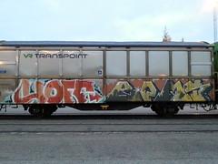 Freight graffiti (Thomas_Chrome) Tags: graffiti streetart street art spray can freight train cargo vr transpoint suomi finland europe nordic illegal vandalism moving