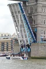 Not Lost (dhcomet) Tags: clipperroundtheworld yacht yachting sailing race river thames london finish garmin pooloflondon towerbridge