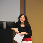 Dr. Kalata during her lecture.