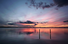 Still standing. (Jill Bazeley) Tags: indian river lagoon intracoastal waterway merritt island florida usa sunset pineda causeway pier piling abandoned sony alpha a6300 rokinon 12mm space coast skies