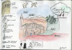 Sketchnotes - Marrakech, Maroc (Claudio Nichele) Tags: marrakech maroc morocco sketchnotes sketch sketchnote drawing dessin watercolor watercolour acquarello aquarelle souk