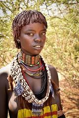 Hamar Woman, Ethiopia (Rod Waddington) Tags: africa african afrika afrique ethiopia thiopien ethiopian ethnic etiopia ethnicity ethiopie etiopian omovalley omo valle hamer hamar traditional tribe tribal portrait people beads married