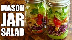 Easy Mason Jar Salad + 2 Salad Dressing Recipes | Healthy Lunch Ideas (Healthy Fun Fitness) Tags: easy mason jar salad 2 dressing recipes | healthy lunch ideas