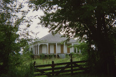 somewhere in Louisiana (History Rambler) Tags: old abandoned house home rural south vacant plantation creole louisiana film 35mm antebellum