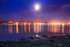 18012014-_DSC4710 (giuseppe famoso) Tags: europe harbor italy night seascape siracusa industry landscape priolo reflection saline thapsos