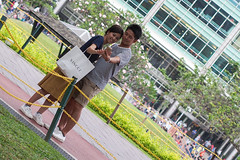 (yangkuo) Tags: warmth coopmode partner match japanese couple lovely klcc park wefie loving smile
