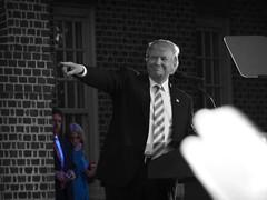 Donald Trump Rally (James B Currie) Tags: bw donaldtrump trump trumprally regentuniversity virginiabeach politics rally election2016 campaign makeamericagreatagain october 2016 politician people republicans gop sheisty