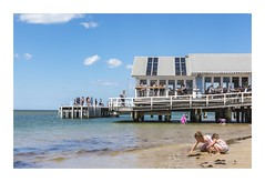 Swim, Dine or Play (red stilletto) Tags: oceangrove barwonheads barwonheadsriver water spring swim play dine pier attheheads attheheadscafe