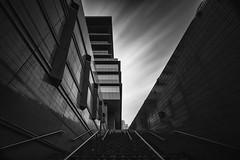 Path ([~Bryan~]) Tags: architecture stairs daytimelongexposure longexposure up ndfilter bw blackandwhite monochrome sky cloudmovement hongkong