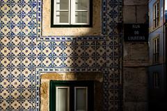 Walls of Portugal: Lisbon #5 (Franck_Michel) Tags: azulejos wall colorful shadow street window sun