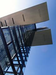 (ohank1951) Tags: lines reflections glass geometry geometrie facade abstract kranhaus architecture btr bothe richter teherani rheinauhafen keulen köln cologne canoneos1100d efs1022mmf3545usm