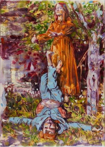 Dominic Shepherd 'The Hanged Man', 2015 Oil on linen 42x30cm