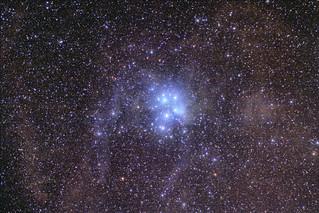 2016 Pleiades M45 Aut with Zenit Jupiter-11A 135mmf4 lens + 550D (EXPLORE 11/11/2016)