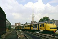 NS 111 / Rt Schiehaven (Bevadi) Tags: ns de3 planu 111 dieseltreinstel excursietrein goederenemplacement euromast rotterdam schiehaven