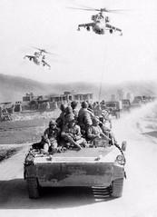 #A column of Soviet soldiers accompanied by 2 Mi-24P. Afganistan, 1982 [500 X 692] #history #retro #vintage #dh #HistoryPorn http://ift.tt/2fI3l2U (Histolines) Tags: histolines history timeline retro vinatage a column soviet soldiers accompanied by 2 mi24p afganistan 1982 500 x 692 vintage dh historyporn httpifttt2fi3l2u