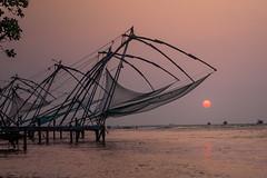 Chinese fishing nets at the beach in Fort Kochi, Kerala (sandeepachetan.com) Tags: kochin kerala india 5d canon chetan chetankarkhanis karkhanis photo photography sandeepa sandeepakarkhanis sandeepachetan