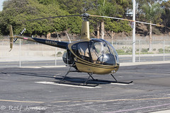 N682SH Robinson R44 Star Helicopters Hawthorne airport KHHR 08.11-16 (rjonsen) Tags: helicopter vtol los angeles hawthorne airport parked apron rotor