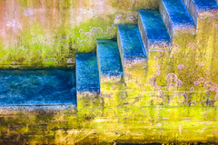 Steps Reflecting Sky (stephenbryan825) Tags: liverpool buildings dock multicoloured selects staircase vivid