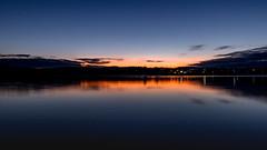 Blue hour over the River Plym (Rich Walker75) Tags: bluehour sunrise dawn morning landscape reflection reflections river sky blue orange landscapes plymouth devon uk england canon eos100d efs1585mmisusm riverplym westcountry