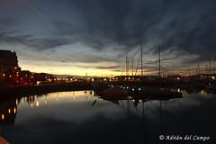 Gijn sunset (acampoh) Tags: gijon espaa atardecer sunset spain sea mar barcos boats nikon landscape