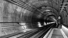 gottardo - the tunnel (dan.boss) Tags: gottardo gotthard alps tunnelvision sbb switzerland monochrome bw railway tunnel gottardino gotthardbasetunnel