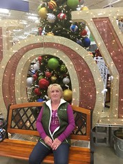 c2016 November 22, Lowes IPhone 6s (King Kong 911) Tags: christmas lowes picture posing balls