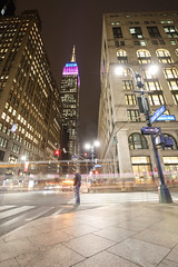 Empire State Building from Madison Avenue (Jemlnlx) Tags: canon eos 5d mark iv 4 ef 1635mm f4 l is usm lens ny new york nyc city manhattan midtown esb empire state building street night evening lights 34th 34street 34thstreet long exposure iconic skyscraper tripod madison avenue