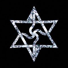 as above so below, everything is cyclic (synartisis) Tags: raelian symbol swastika hexagon hexagram above below fractal water crystal cube snowflake