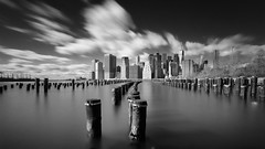 A Pillow of Winds (-=AE=-) Tags: black white bw long exposure new york city skyline nyc manhattan brooklyn world trade center canon 1740mm 6d