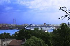 Love Boat   (Saeed Nassbeh) Tags: travel cruise sea tourism water boats bay boat europe ship sweden stockholm ships capital shore cruiseship scandinavia   worldcapitals        europeancapital        swedencapital scandinaviancapitals