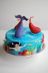 Violet's Mermaid Birthday Cake - vertical view (CharmChang) Tags: ocean birthday fish cake underwater h2o adventures mermaid fondant
